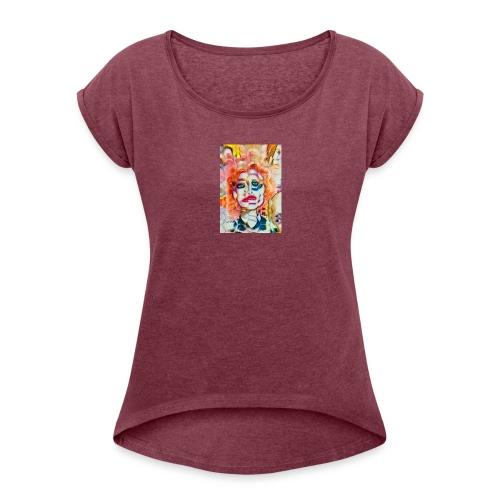 TIME WARP - Women's Roll Cuff T-Shirt