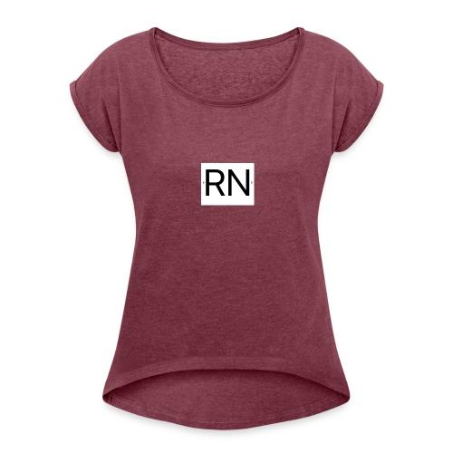 RN_Logo_small - Women's Roll Cuff T-Shirt