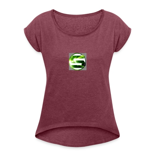 Spreadshirt_tryck_1_v2 - Women's Roll Cuff T-Shirt