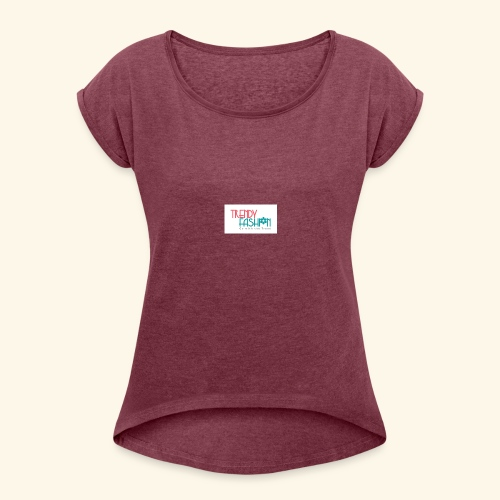 Trendy Fashions Go with The Trend @ Trendyz Shop - Women's Roll Cuff T-Shirt