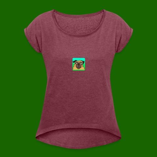 TheBratPug TEAM PLAYER - Women's Roll Cuff T-Shirt