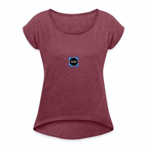 Trickshot Nation merchendise - Women's Roll Cuff T-Shirt