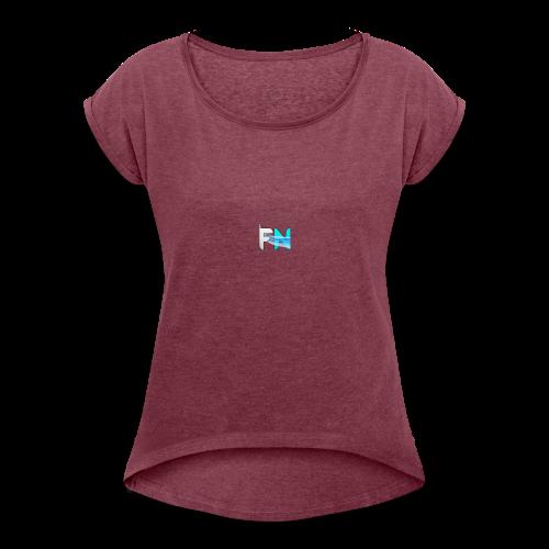 Futuristic Networks - Women's Roll Cuff T-Shirt