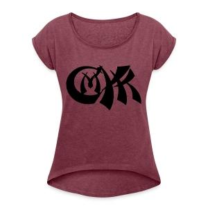 cmyk - Women's Roll Cuff T-Shirt