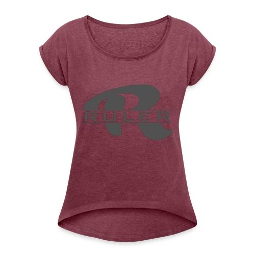 Ruler Logo - Women's Roll Cuff T-Shirt
