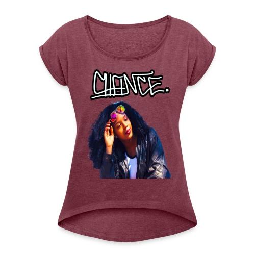 Chance Portrait - LIMITED EDITION - JMMS RECORDS - Women's Roll Cuff T-Shirt