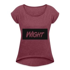 Wight LOGO - Women's Roll Cuff T-Shirt