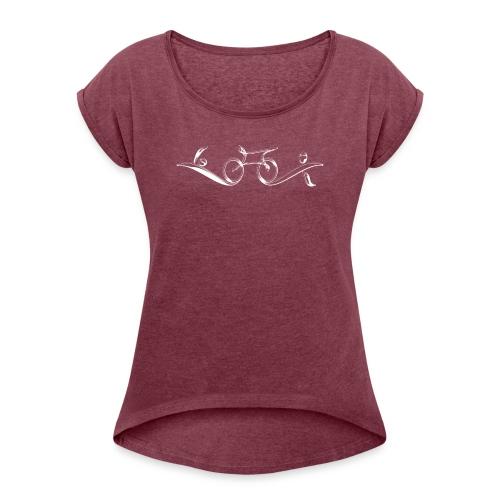 Swim Bike Run - Classy - Women's Roll Cuff T-Shirt