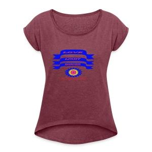 HAPPY - Women's Roll Cuff T-Shirt