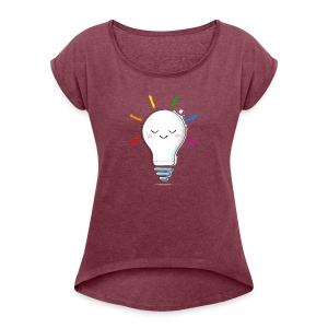 Lighten Up - Women's Roll Cuff T-Shirt