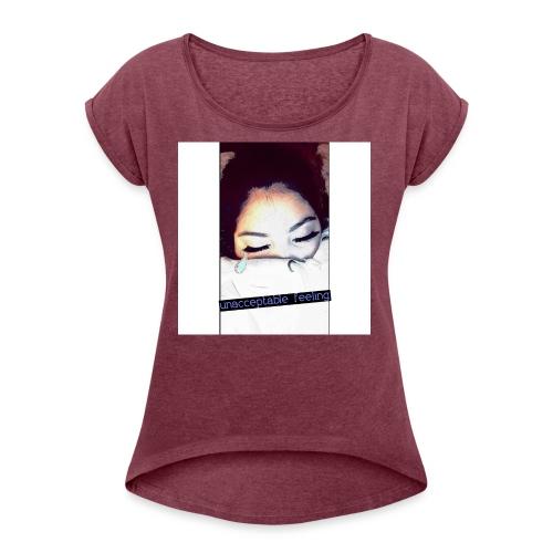 QUEEN G. GORGEOUS - Women's Roll Cuff T-Shirt