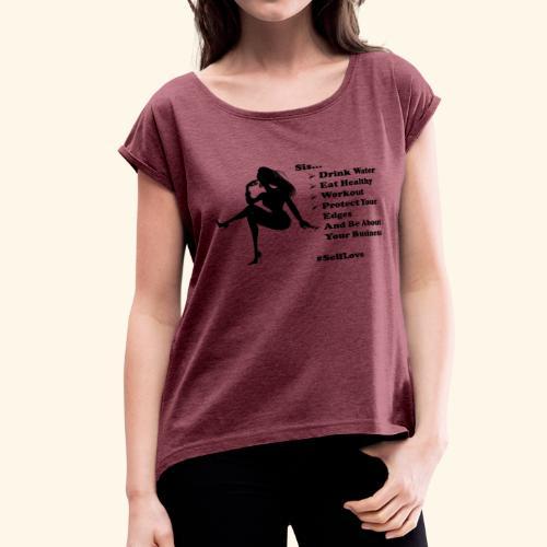 SisList1 - Women's Roll Cuff T-Shirt
