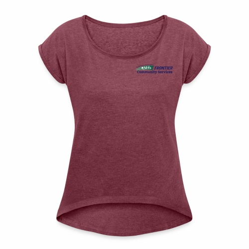 Frontier Logo - Full Color - Women's Roll Cuff T-Shirt