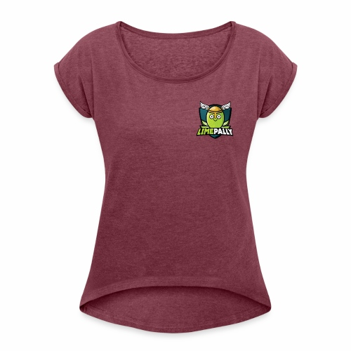 Limepally's Logo - Women's Roll Cuff T-Shirt