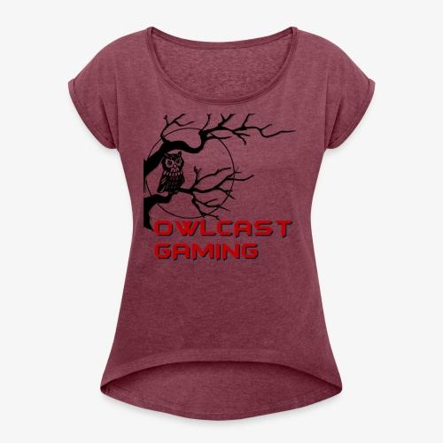 The Owlcast Merchandise - Women's Roll Cuff T-Shirt