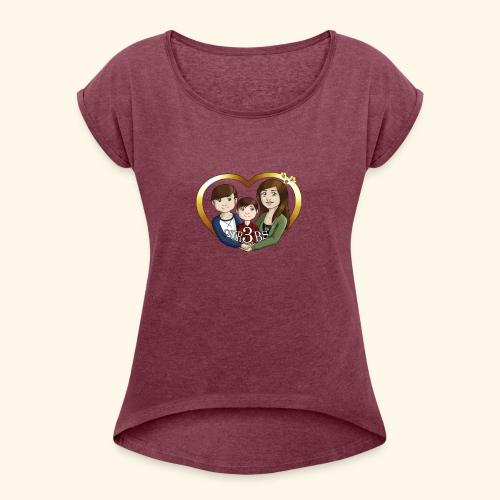 OUR3BS Heart - Women's Roll Cuff T-Shirt