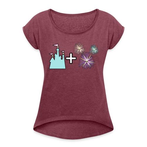 Castle & Fireworks - Women's Roll Cuff T-Shirt