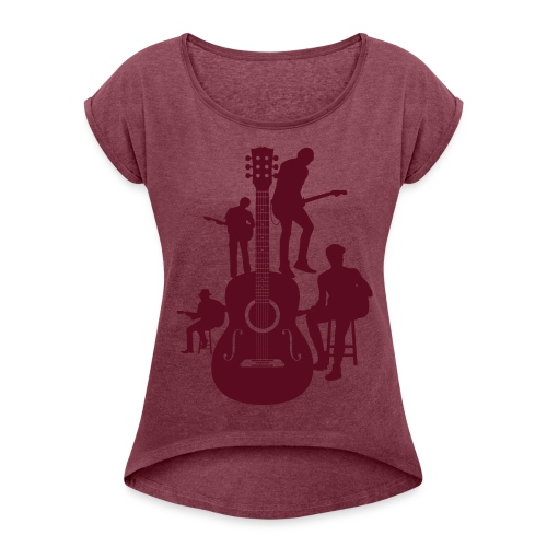 Musical5 - Women's Roll Cuff T-Shirt