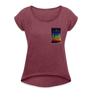 I dig Chill People, Sunsets & Bud.. - Women's Roll Cuff T-Shirt