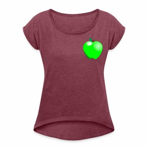 Green Apple - Women's Roll Cuff T-Shirt