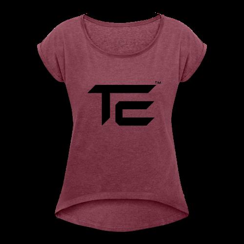 TE Logo - Women's Roll Cuff T-Shirt