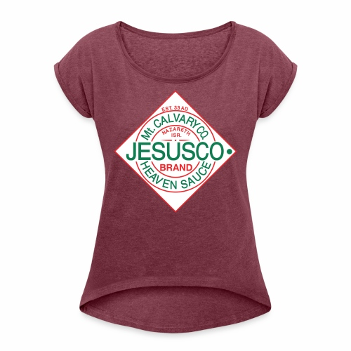 Jesusco t-shirt - Women's Roll Cuff T-Shirt