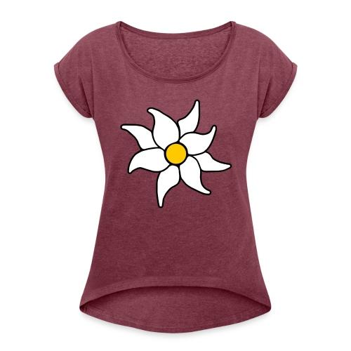 Moorland Flower - Women's Roll Cuff T-Shirt