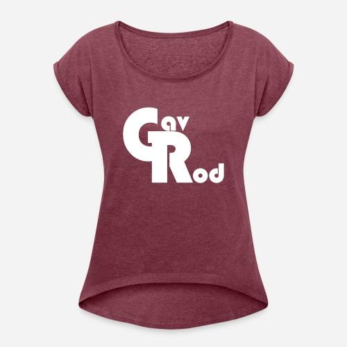 TEST LOGO3 - Women's Roll Cuff T-Shirt