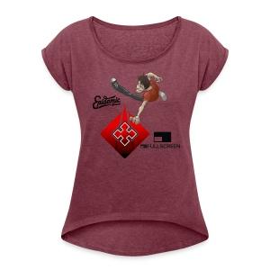 Tshirt By Kantus Salvaje - Women's Roll Cuff T-Shirt