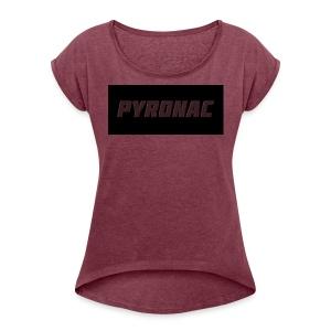 Logo (Rectangle) - Women's Roll Cuff T-Shirt