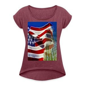 Some gave all - Women's Roll Cuff T-Shirt