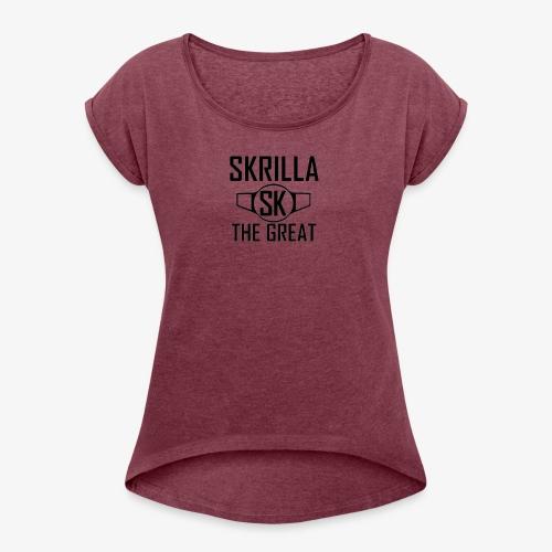 Skrilla V1 - Red - Women's Roll Cuff T-Shirt