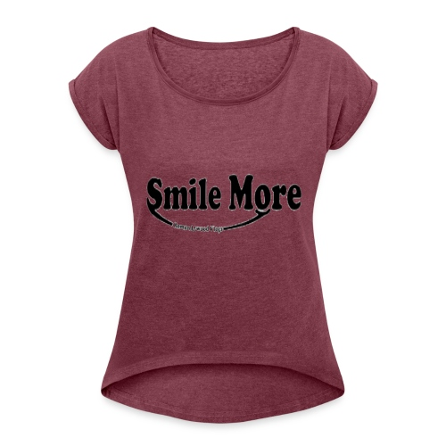 ROMAN ATWOOD VLOGS DESIGN OFFICIAL - Women's Roll Cuff T-Shirt
