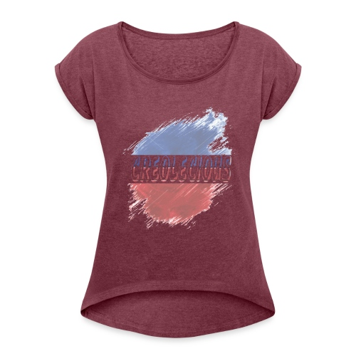 Creolecious Apparel - Women's Roll Cuff T-Shirt