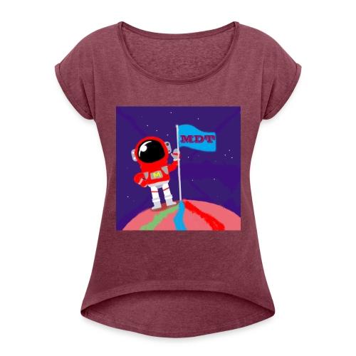 MiX DuDeZz Tv Warehouse - Women's Roll Cuff T-Shirt