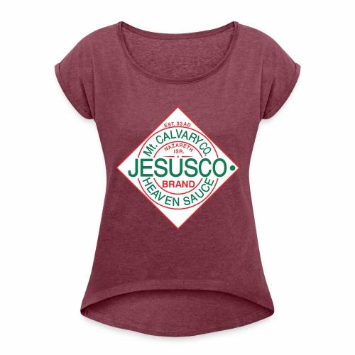 Jesusco t-shirt - Women's Roll Cuff T-Shirt