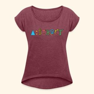 Abstract - Women's Roll Cuff T-Shirt