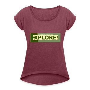 Explore Logo - Women's Roll Cuff T-Shirt