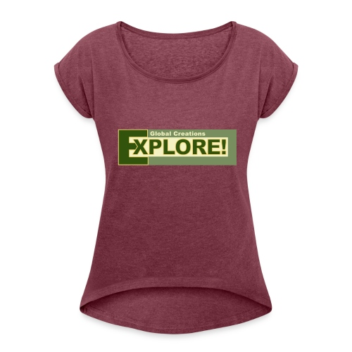 Explore Logo - Women's Roll Cuff T-Shirt