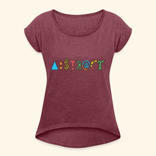 Abstract - Women's Roll Cuff T-Shirt