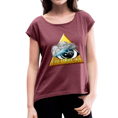 COLORBLIND - The Storm - Women's Roll Cuff T-Shirt