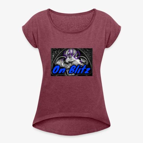 -SNDeer- - Women's Roll Cuff T-Shirt