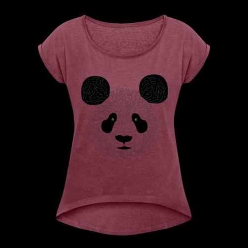 Panda - Women's Roll Cuff T-Shirt