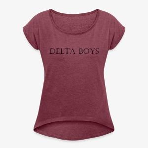 DeltaBoys Stonescript - Women's Roll Cuff T-Shirt