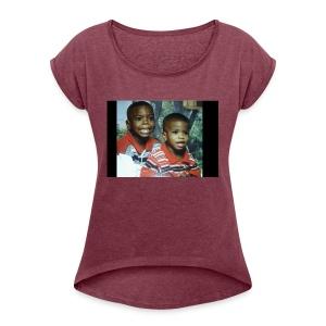 They Baby Photo - Women's Roll Cuff T-Shirt