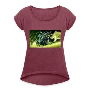 dragon power - Women's Roll Cuff T-Shirt