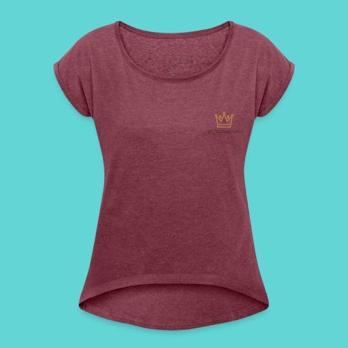 Musical Crown - Women's Roll Cuff T-Shirt