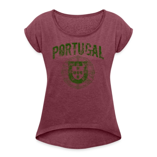 Vintage Portugal - Women's Roll Cuff T-Shirt