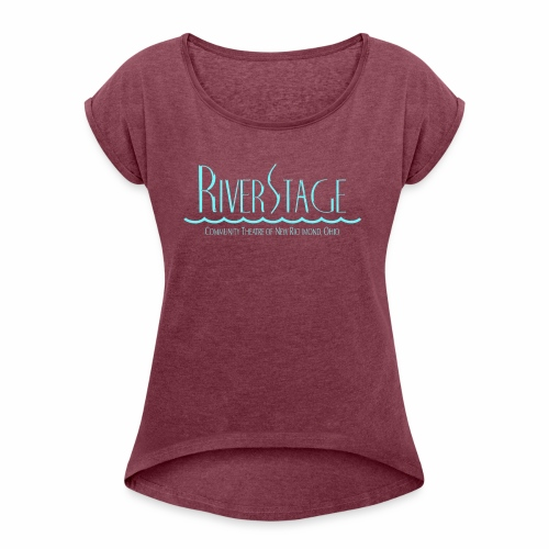 RiverStage Color Logo in Ice Blue - Women's Roll Cuff T-Shirt