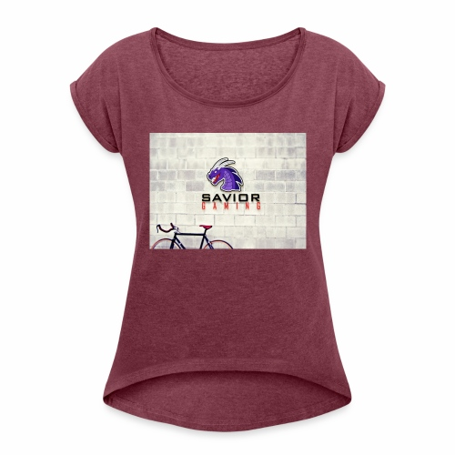 Savior Gaming Logo - Women's Roll Cuff T-Shirt